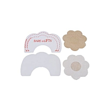 3 Style Breast Lift Cleavage Bra Invisible Tape Enhancer+Nipple Cover Pad Pasties Style 1 Natural Color