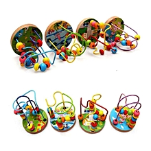 Early Learning Toy Children Kids Baby Colorful Wooden Mini Around Beads Educational Mathematics Toy