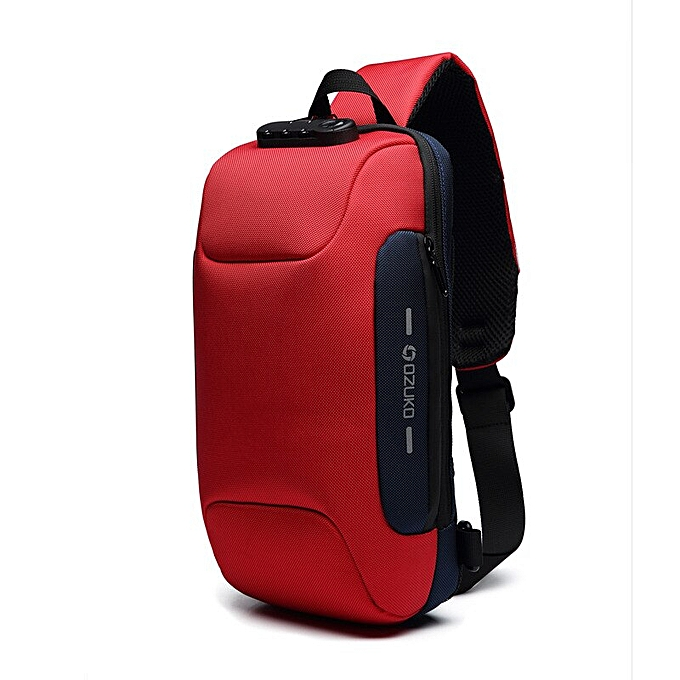 89dd9ac9794a OZUKO 2019 New Multifunction Crossbody Bag for Men Anti-theft Shoulder  Messenger Bags Male Waterproof Short Trip Chest Bag Pack(Red)