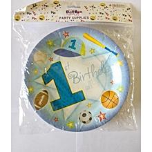 1st birthday plates-blue-10 pieces
