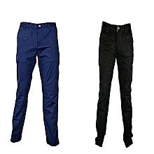 Set Of 2 Polo Men's Classic Slim Fit Cotton Khaki Pants