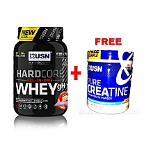 Hardcore Whey GH All-in-One Protein - 908 grams - Strawberry with a Free Creatine 150g