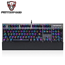 CK108 USB Wired Gaming Keyboard with 18 Backlight Mode for Desktop-BLACK