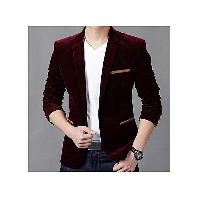 ebbc9364ab964 Wine Red New Arrival Slim Fit Men Suit Costume Homme Vest Formal Business Mens  Blazer Suit