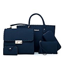 4 in 1 Navy Blue Velvet Handbag set