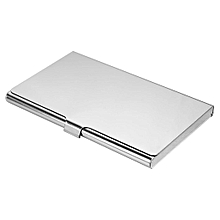 Portable Cross Silver Stainless Business Name ID Credit Card Pocket Wallet Holder-1