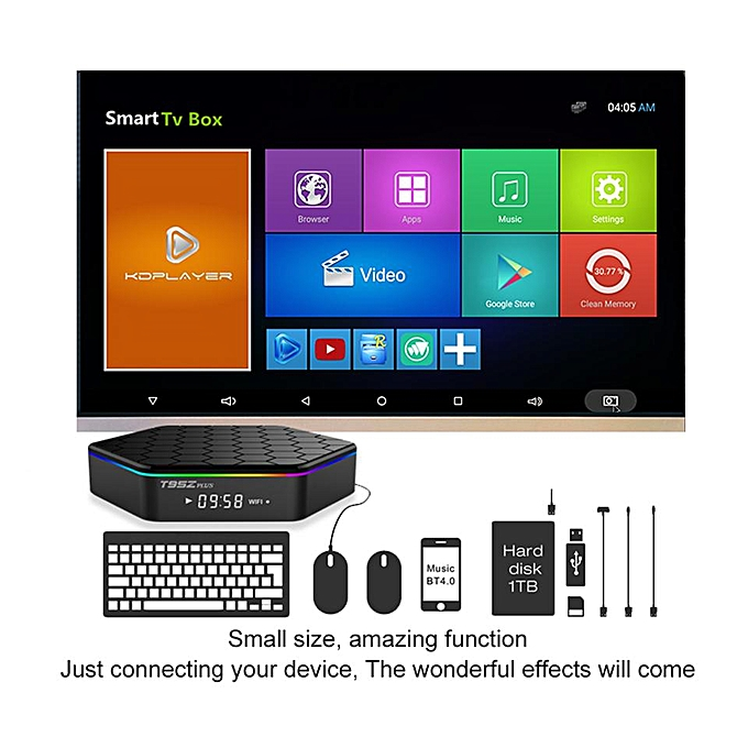 (Pre-installed Channels/Movies Apps) PULIERDE T95Z Plus 2GB/3GB RAM  16GB/32GB ROM Amlogic S912 Octa Core Android 7 1 Smart TV BOX 2 4G/5GHz  WiFi