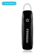 Fineblue F515 Bluetooth 4.0 Earbud Music Earphone with Mic - BLACK