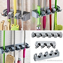 Wall Broom Holder - Grey