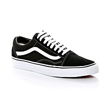 Black & White Laced Up Casual Sneakers