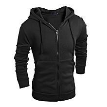 Men's solid color Black Hood Hoodies fashion sweatshirt M-2XL