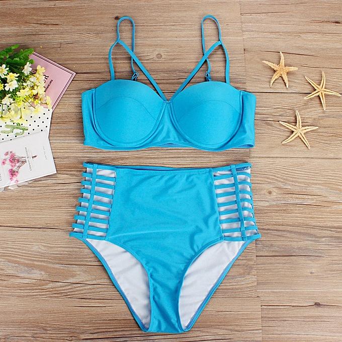 f8293c516 Plus Size Women Push-Up Padded Bra Beach Bikini Set Swimsuit Sexy Swimwear