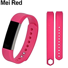 Sport Silicone Wristband Replacement For Fitbit Alta S (Mei Red)