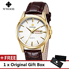 Top Luxury Brand Watch Fashion Sports Men Quartz Watches Leather Wristwatch Gift For Male