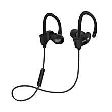 Wireless Bluetooth Sport Earphones Stereo Headphone Sweatproof Headsets Earbuds in black