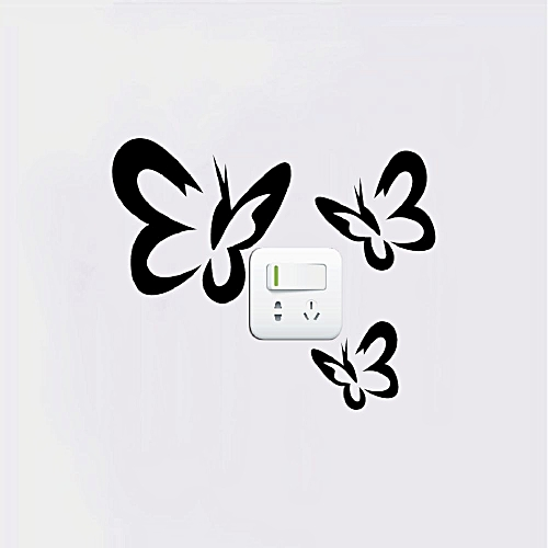 751d50c225c6 Generic Butterflies Flying Light Switch Sticker Creative Butterfly Vinyl  Wall Sticker Home Decor - Black