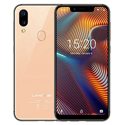 UMIDIGI A3 Pro, Global Dual 4G, 3GB+32GB, Dual Back Cameras, Face ID & Fingerprint Identification, 5.7 inch 2.5D Full Screen Android 8.1 MTK6739 Quad Core up to 1.5GHz, Network: 4G, Dual SIM(Gold)