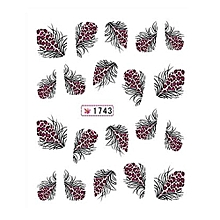 Fancyqube   1 Sheet Factory Outlets Continental Carved Nail Stickers Nail Stickers Nail Stickers Stereoscopic 3D Nail Sticker