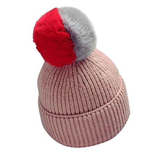 c19f4e55a66 Fashion jiuhap store Baby Toddler Kids Boy Girl Knitted Crochet Beanie  Winter Warm Hat Cap-Pink