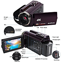New 4K Camcorder Video Camera Camcorders Ultra HD Digital Cameras and Video Recorder with Wifi/Infrared Touchscreen Angle Lens LIEGE