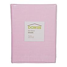 Flat Sheet - Double - 200cm x 240cm - 144 Polycotton - Light Pink