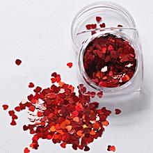 7g Mixed Heart Thin Nail Art Glitter Paillette Nail TipGel Polish Decoration-Red