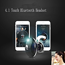 Mini Wireless Bluetooth Headphone Touch Stereo 4.1 Handfree Earpiece Headset -Black