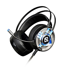 AJazz AX360 3.5mm Audio Jack + USB Wired Noise Canceling Gaming Headset Headphone with Microphone