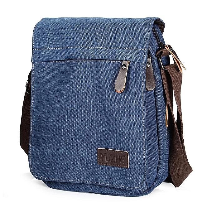 ef15a2f45d Canvas Men Messenger Bags Canvas Crossbody Shoulder Bag Casual Vintage Flap