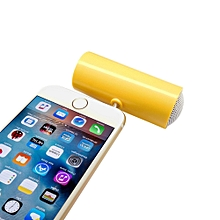 Speaker 3.5mm Music Player Stereo Speaker For iPod iPhone6 Plus Note4 Cellphone YE-Yellow