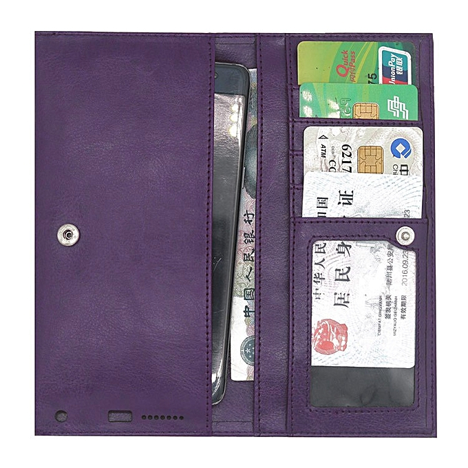 premium selection f5b26 f9d06 PU Leather Wallet Case Pouch Bag Sleeve Cover for Gionee A1 Lite 5.3 inch  (Purple)