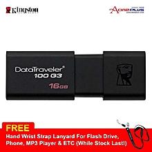 Kingston 16GB Data Traveler 100 G3 Usb3.0 Flash Drive - (DT100G3/16GB) + Free Hand Wrist Strap Lanyard LJMALL