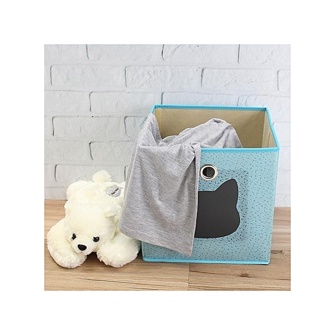 Universal Collapsible Cat Kids Fabric Storage Boxes Childrens Toy