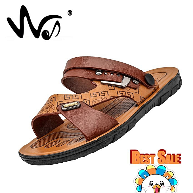 eaffed957173 2019 New Fashion Summer Men s Flip-flops Sandals Men s Shoes Casual Men s  Beach Shoes Design