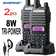 Baofeng Walkie Talkie UV-82 8W UV82 HP Tri-Power Dual PTT & Band 8W H,M,L Selection