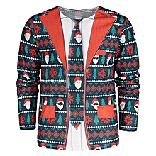 Crew Neck Long Sleeve Christmas T-shirt