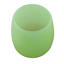 Silicone Wine Glass Unbreakable Stemless Rubber Beer Mug Outdoor Cup Glass -Green