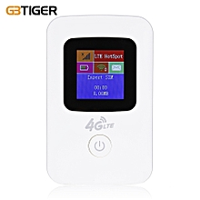 GBTIGER K11 Portable Mobile 4G LTE Wireless Router WiFi Hotspot LCD Display -WHITE
