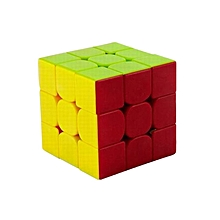 3x3x3 Stickerless Speed Cube - 6-Color