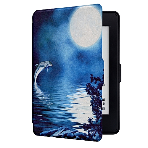 100% authentic 4fa12 986de ABS Protective Case For Kindle Paperwhite 1 2 3 Painted Deep Sea Dolphin  Leather