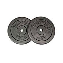 10 Kg Black Cast Iron Plate - Weight