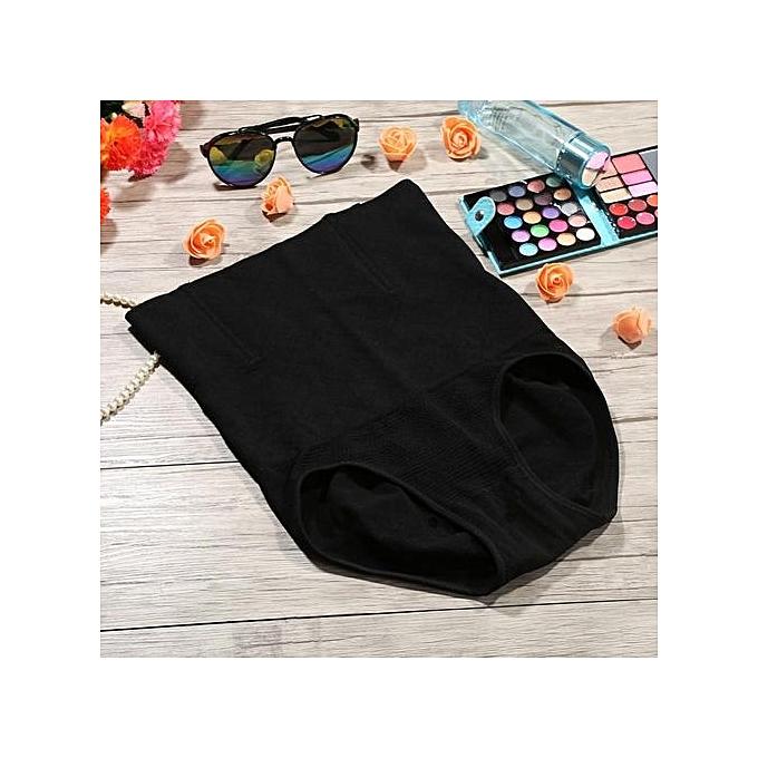 b46b35de8ed42 Women Breathable High Waist Slimming Underpant Shapewear Bodysuit(Black M L)