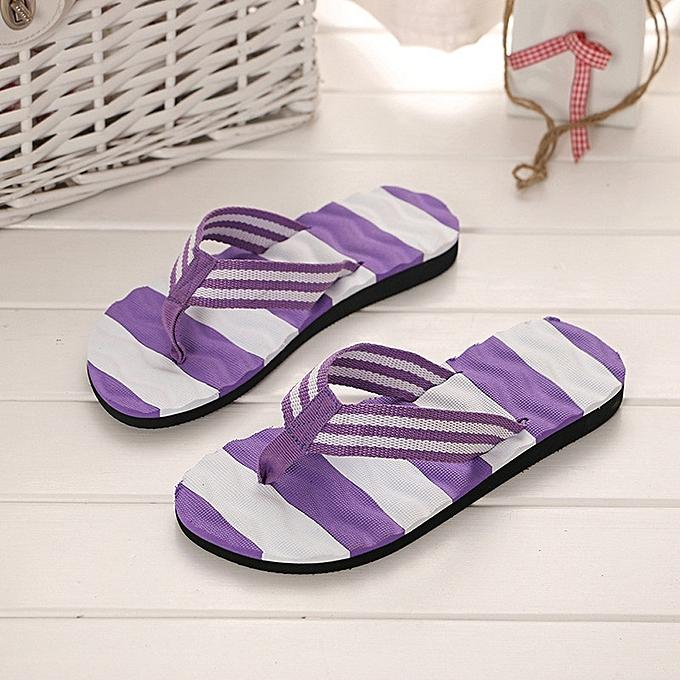 9374a53a1db Women Summer Sandals Slipper Indoor Outdoor Flip-flops Beach Shoes Purple