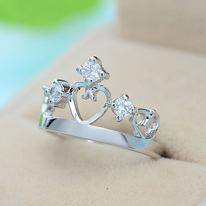 The Lovers Royal Crown Ring Pure Silver Female Delightfully Fresh Jewelry Birthday