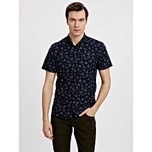 Blue Fashionable Skinny Shirt
