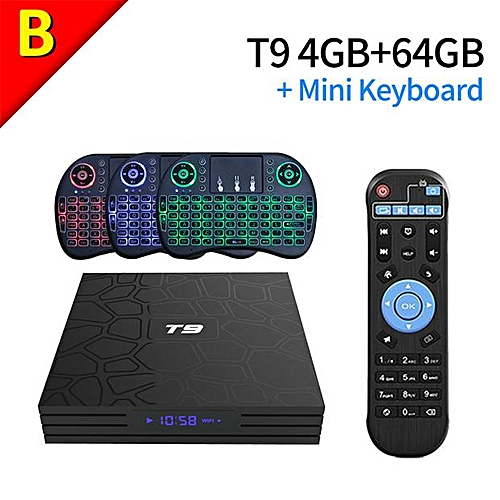 (Pre-installed Channels/Movies Apps) PULIERDE T9 4GB 64GB Android 8 1 TV  BOX RK3328 Quad Core USB 3 0 Bluetooth 4 0 H2 65 4K Smart TV 2 4GHz WIFI