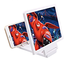 Phone Magnifier 3D Enlarged Screen Mobile Holder White