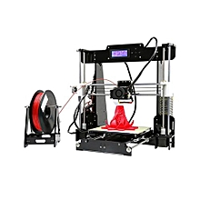 A8 3D Desktop Acrylic LCD Screen Printer Prusa I3 DIY High Accuracy Self Assembly EU PLUG - Black