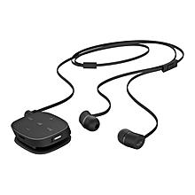 H5000 Black Bluetooth Earphones with inbuilt Mirophone - BLACK