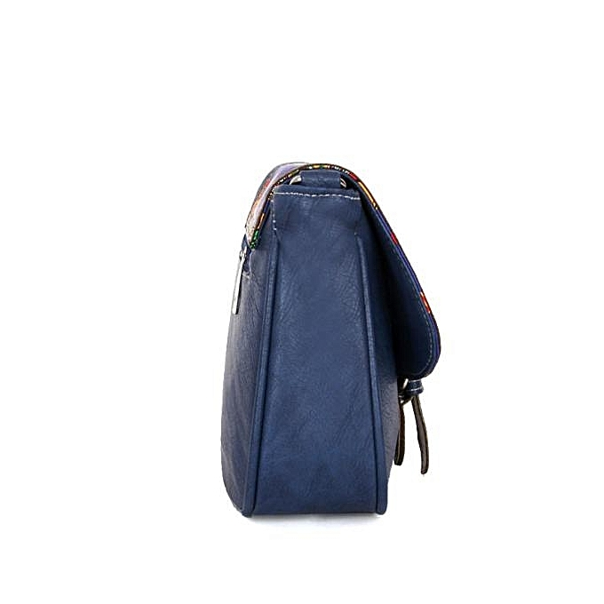Duanxinyv- Women Printing Leather Messenger Bag Lady Shoulder Bag Handbags Dark  Blue 73485bdf30a1d